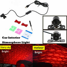 1x Car Interior Ambience Ceiling Star Light Red LED Projector Light USB Connect