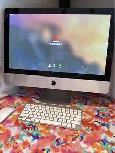 2011 Apple all in one iMac desktop 21 inch screen silver