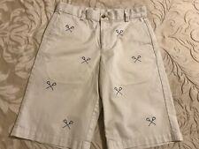 Boys Vineyard Vines Tan Lacrosse Sticks Chino Shorts Size 14