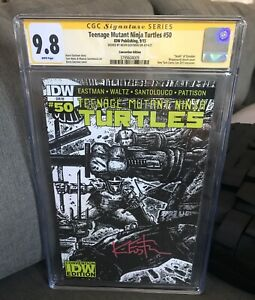 TMNT #50 : NEW YORK COMIC CON VARIANT : SIGNED BY KEVIN EASTMAN : CGC SS 9.8
