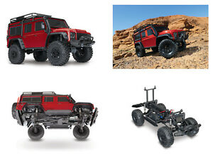 Auto RC Traxxas TRX4 Land Rover Defender Scaler 4x4 RTR 1/ 10 Rosso