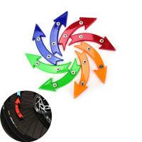 Bicycle Wheel Spoke Reflective Reflector Arrow Shape Safe Warning Light DX