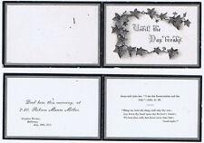 ROTHESAY 1911 In Memoriam Card for Robina Munro Millar of Ornatus Terrace