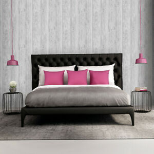 Lipsy London Wood Effect Wallpaper Silver Grey Paste the Wall Feature Wall Strip