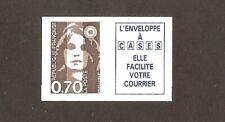 FRANCE 1993 Autoadhésif N° 5b ( 2824a ) Marianne 0.70 BRUN +Vignette NEUF** LUXE