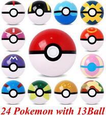 24x Pokemon Go Figures with 13x Poke ball Pikachu Pop-up lot kid Children toys