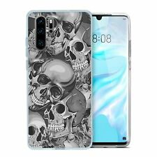 For Huawei P30 PRO Silicone Case Halloween Skull Pattern - S4027
