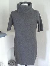 NEU*Esprit*Damen Long Pullover*Strick Kleid*Pullikleid*Wolle*Grau*Gr.L* NEU!