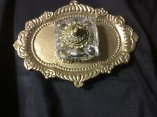 Antique Brass Inkwell Pen Holder Desk Stand With Beautiful Designs