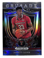 2019-20 Panini Prizm Draft Jarrett Culver Crusade silver rookie card Texas Tech