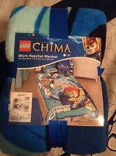 "Lego Legends Of Chima Micro Raschel Plush Blanket Twin 62"" X 90"" Twin Size"