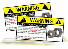 Can Am Big Nuts Warning Sticker Decal 4x4 ATV Race Off