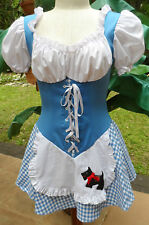 Adorable Sexy Leg Ave Short 1 Pc Dorothy of Oz Costume w/Toto Applique Sz Small