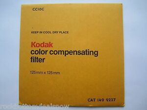 KODAK COLOR COMPENSATING FILTER  CC10C 125mm Cat 149 9227 Brand New