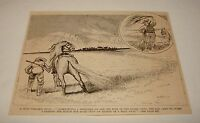 1887 magazine engraving ~ A WILD STALLION HUNT