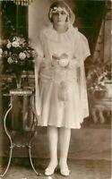 C-1910 Communion Religion Girl Interior RPPC Photo Postcard 10505
