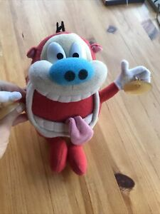 "Stimpy Plush 10"" Stuffed Animal Vintage 1992 Nickelodeon Mattel Toy"