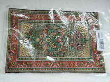 Streets Ahead Dolls House Green Turkish Carpet 12th Scale