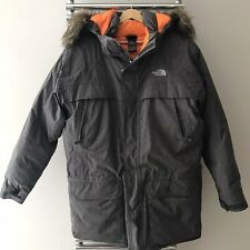 THE NORTH FACE McMurdo Parka Jacket Down Grey/Orange Boys Size XL 18-20 years
