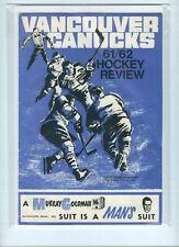 1961-62 Vancouver Canucks Whl Signed Program With 16 Autographs/Signatures Rare