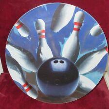 """Luminarc BOWLING PINS & BALL 12"""" Round Serving Dinner Chop Plate/s D223"""