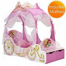 DISNEY PRINCESS CARRIAGE TODDLER BED + MATTRESS NEW
