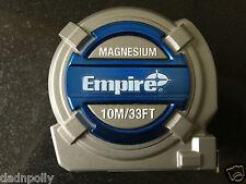 EMPIRE MAGNESIUM 10 METRE / 33 FEET HIGH QUALITY TAPE MEASURE - BRAND NEW