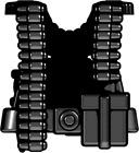 BrickArms Black WW2 German Gunner Vest Weapons for Brick Minifigures