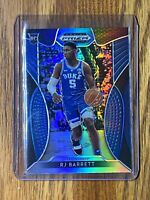 #5 RJ Barrett 2019-20 Panini Blue Silver Prizm Draft Picks Rookie RC Card #66 🔥