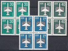 DDR Flugpostmarken 2751-53 im 4er Block postfrisch (´P-985)