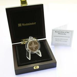Westminster Mint 2010 Jersey 22 ct Gold Proof £1 Cased COA