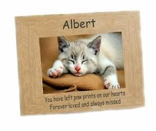 Cat Memorial Photo Frame landscape  6 x 4 engraved  Personalised Memnto Keepsake