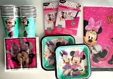 MINNIE MOUSE Happy Helpers Disney Birthday Party Supply Kit Pack w/ Invitations