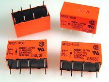 Nec MR82-5USR dil relais pcb mount 5VDC bobine 1A 30VDC dpco 4 pieces OLA1-07