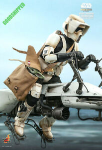 HOT TOYS STAR WARS THE MANDALORIAN SCOUT TROOPER & SPEEDER BIKE DELUXE TMS017