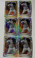 Lot Of (6) Miguel Amaya 2020 Bowman Chrome Mega Box MOJO Refractor SP Cubs Gold