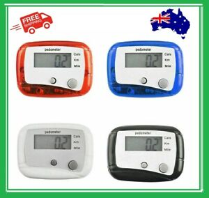 LCD Clip On Pedometer Walking Jogging Running Distance Calorie Counter