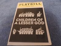 Playbill for Children of A Lesser God at Longacre Theatre
