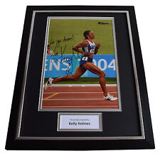 Kelly Holmes Signed Framed Photo Autograph 16x12 display Olympic Sport Aftal Coa