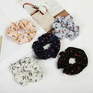 1PC Women Girls Hair Ties Soft Elastic Floral Hair Ring Scrunchies Accessories