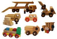 Fahrzeuge aus Holz - PKW Autotransporter Oldtimer Abschleppwagen LKW Kleinkinder