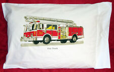Kids Fire Truck Transportation Theme Pillowcase Very Unique Item100% Cotton