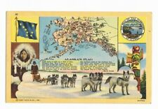 Postcard Alaska's Flag unposted postcard