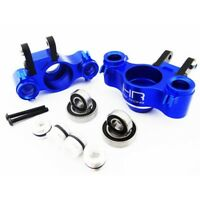 Hot Racing RVO21XG06 1/10 Traxxas Summit Slayer Blue Aluminum Steering Knuckles