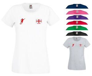 England Football Flag T Shirt Three Lions Fans Barmy Army Gift Women Tee Top