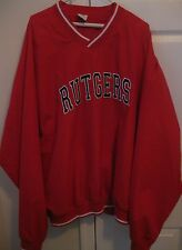 Rutgers NCAA Red V-Neck Wind Pullover XXL