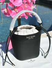 🌸 NWT Kate Spade Cameron Small Bucket Bag Saffiano Leather Black NEW $299