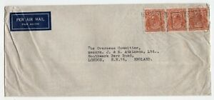 Australia NSW Sydney 1939 George V - Head Issue - Airmail Cover to England -