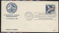 1962 Costa Rica Space Cover FDC