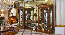 Wall Unit 2x Display Case Console Glass Living Room Berock Rococo